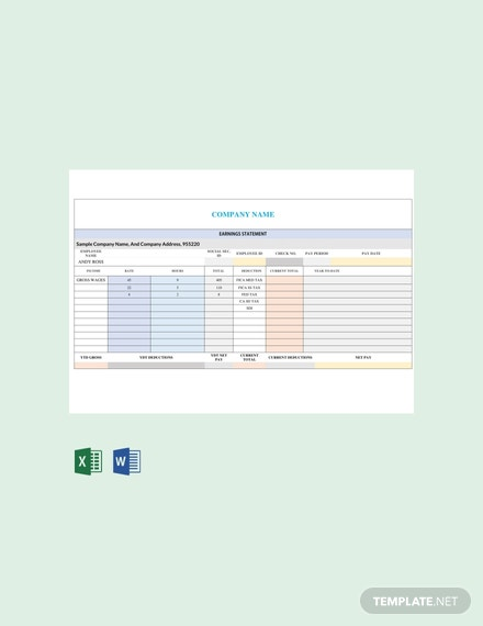 Free Corporate Business Pay Stub Template