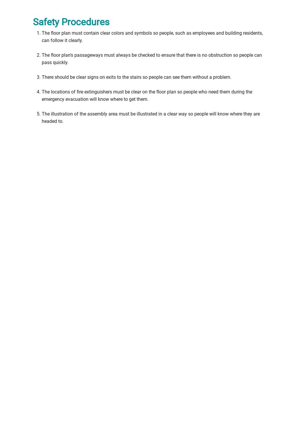 Free Emergency Evacuation Floor Plan Template 4.jpe
