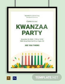 Kwanzaa Party Poster Template