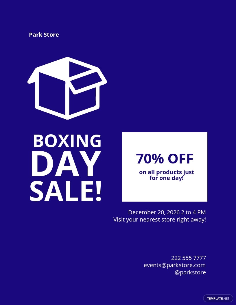 Boxing Day Promotional Product Flyer Template.jpe