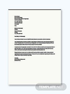 Medical Leave Letter from Doctor