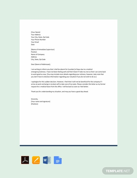 17+ FREE Leave Letter Templates [Download Ready-Made Samples