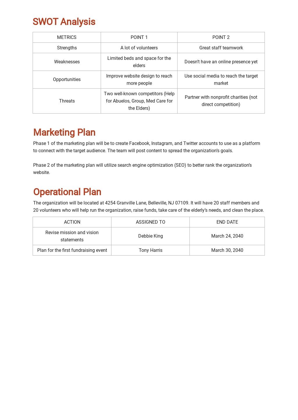 Sample Nonprofit Business Plan Template 3.jpe