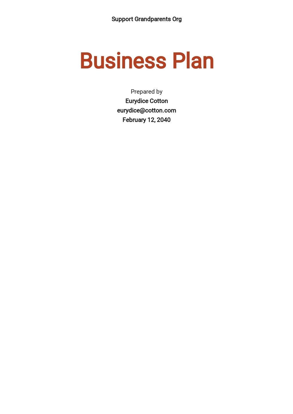 Sample Nonprofit Business Plan Template.jpe