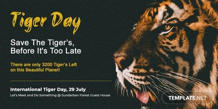 International Tiger Day Facebook Post
