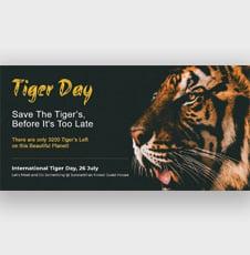 International Tiger Day Facebook Post