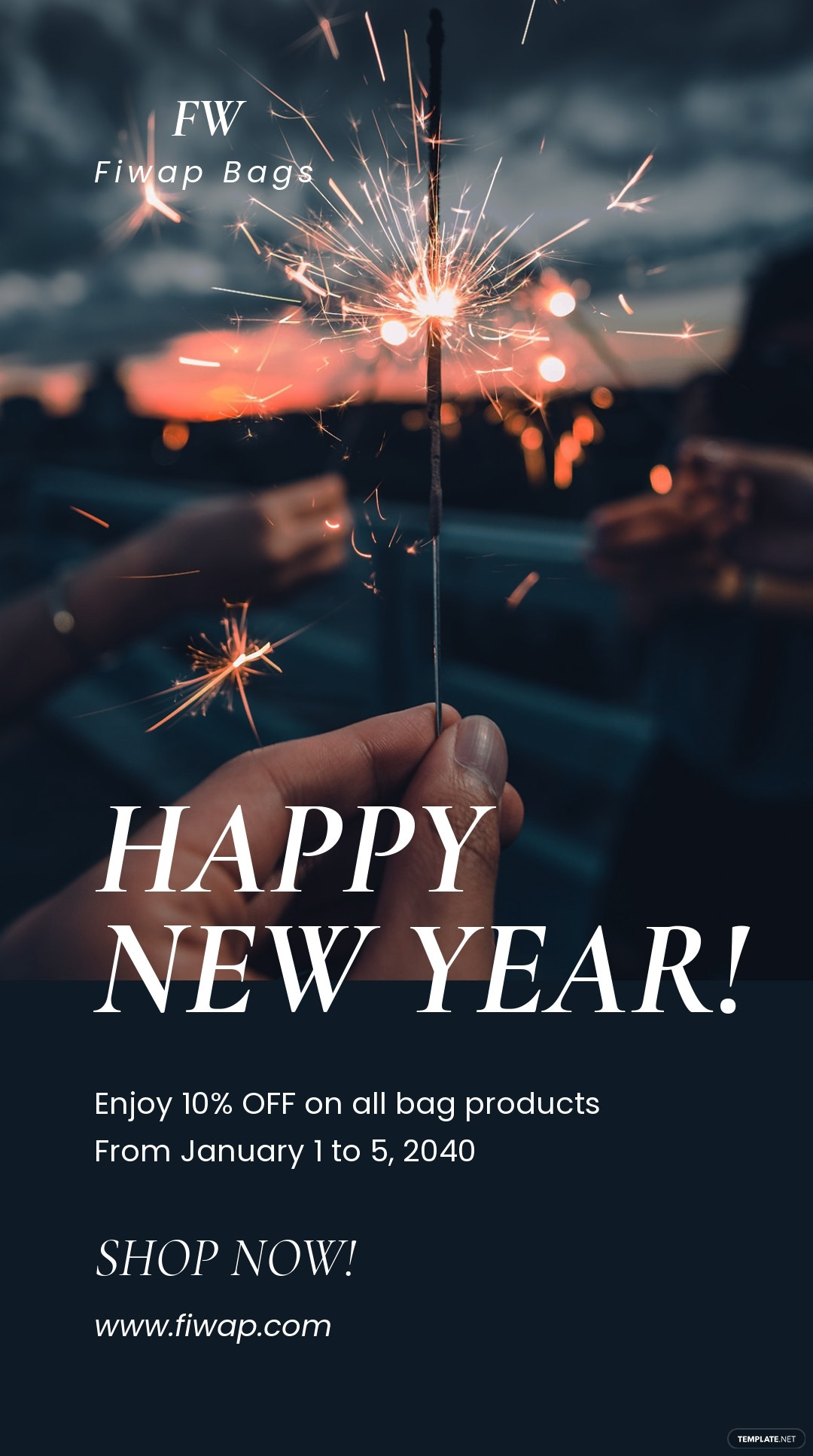 Happy New Year Instagram Story Template.jpe