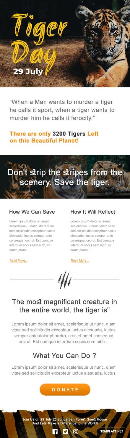 International Tiger Day Newsletter Template