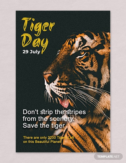 Free International Tiger Day Pinterest Pin