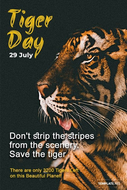 International Tiger Day Pinterest Pin