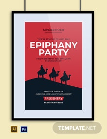 Ephiphany Party Poster Template
