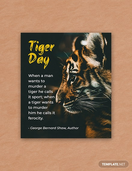Free International Tiger Day Quote