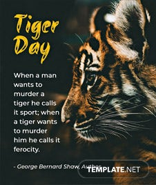 International Tiger Day Quote