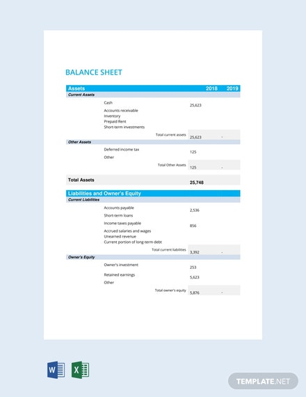 free balance sheet template download 239 sheets in word pdf