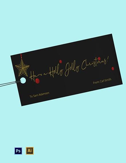 Christmas Tree Gift Tag Template