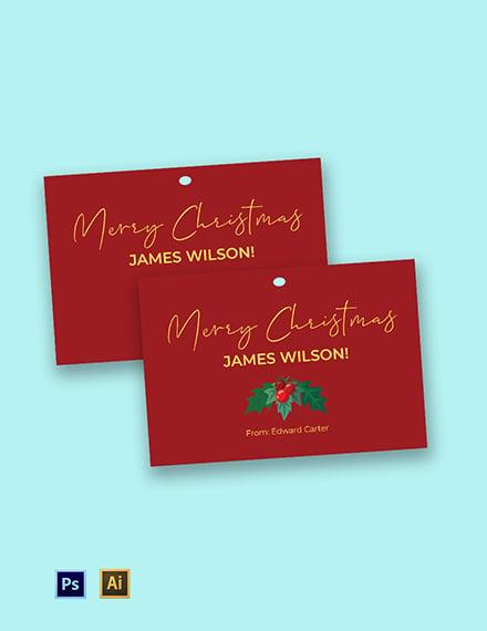 Christmas Name Tag Template