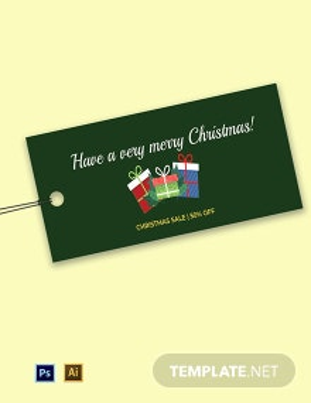 Christmas Price Tag Template