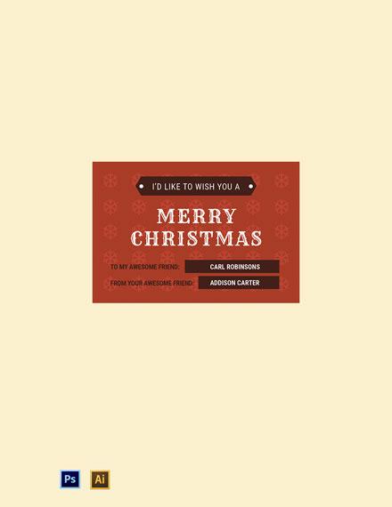 Vintage Christmas Tag Template