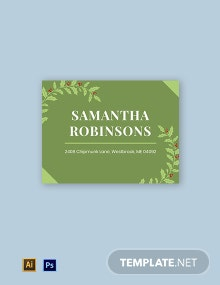 Christmas Address Label Template