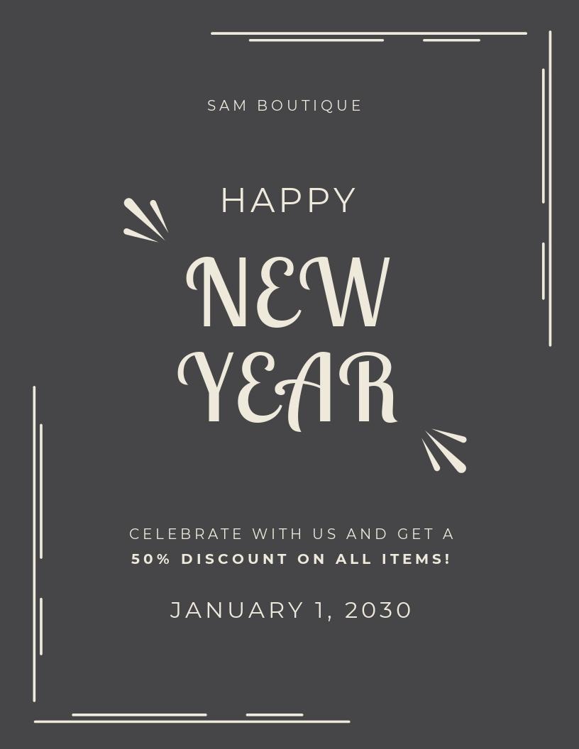 Free Retro New Year Poster.jpe