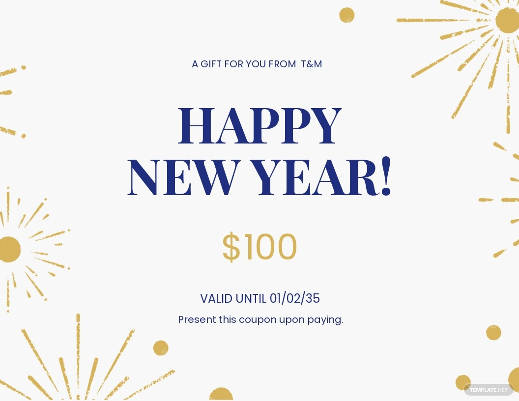 Free New Year Gift Certificate Template