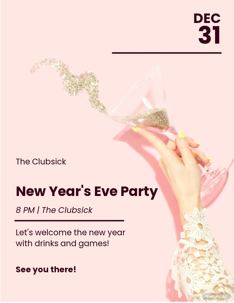 New Years Eve Party Poster Template.jpe