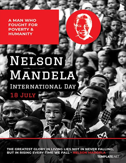 Free Nelson Mandela Day Card