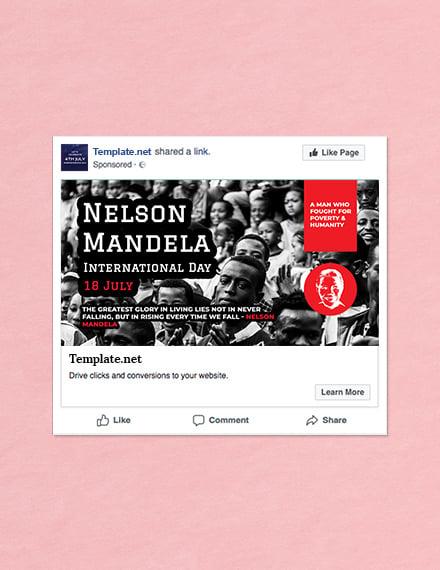 Free Nelson Mandela Day Facebook Post