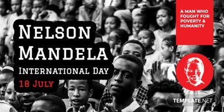 Free Nelson Mandela Day Twitter Post