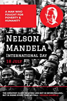 Nelson Mandela Day Pinterest Graphic