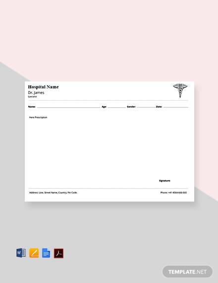 Free Orthopedic Doctor's Prescription Template