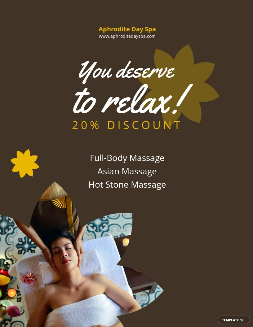 Spa Discount Flyer Template.jpe