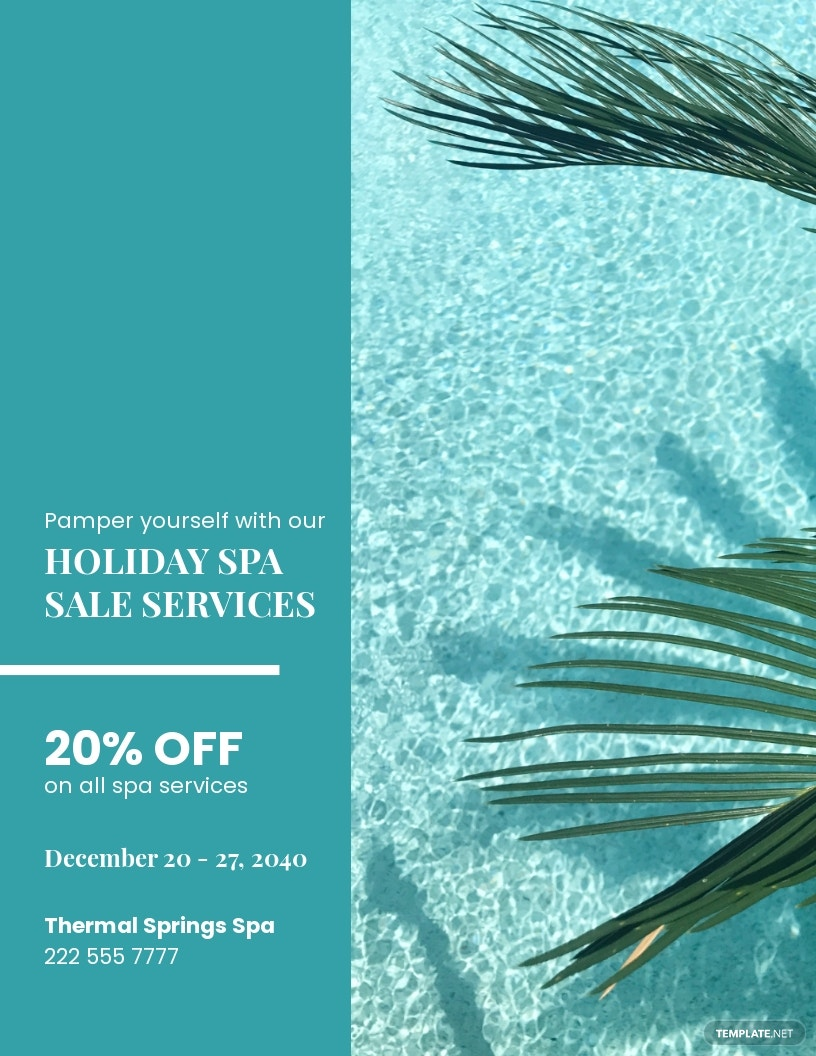 Spa Holiday Sale Flyer Template.jpe