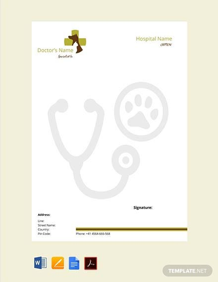 Free Veterinary Doctor's Prescription Template