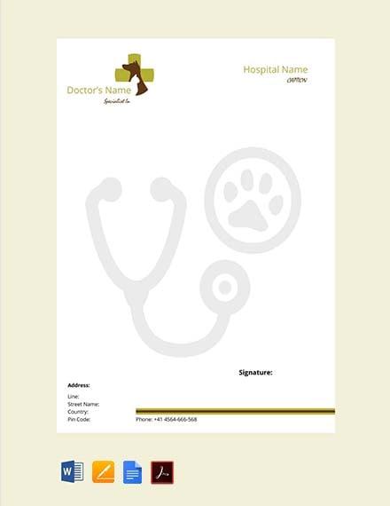 Veterinary Doctors Prescription Template