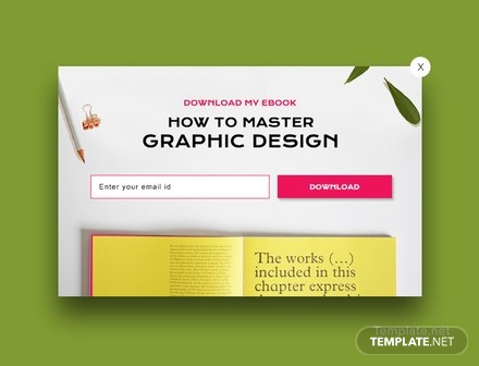 Free Website E-book Pop-up Template