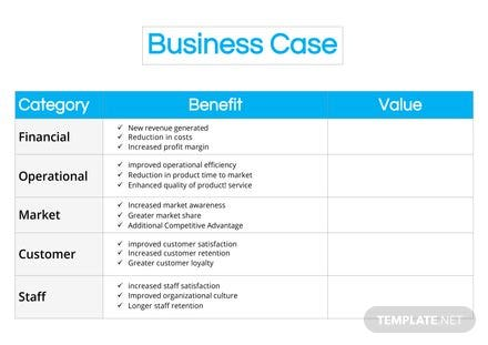 Business case template free templates business case template cheaphphosting Choice Image