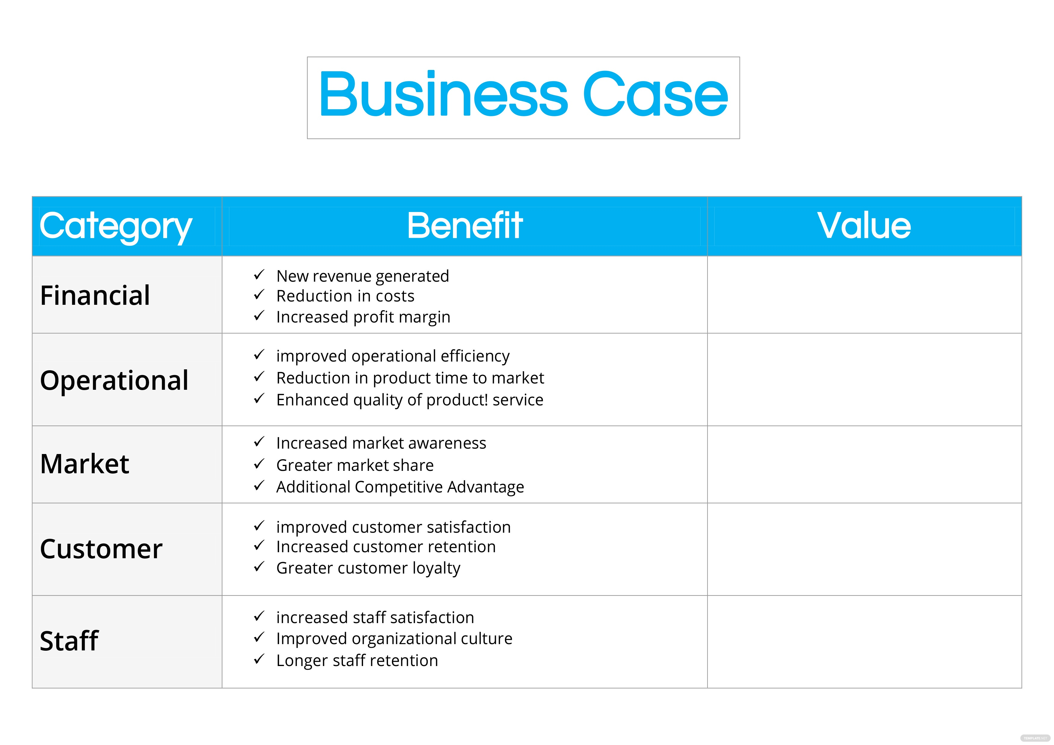 Business case template in microsoft word template click to see full template business case accmission Gallery