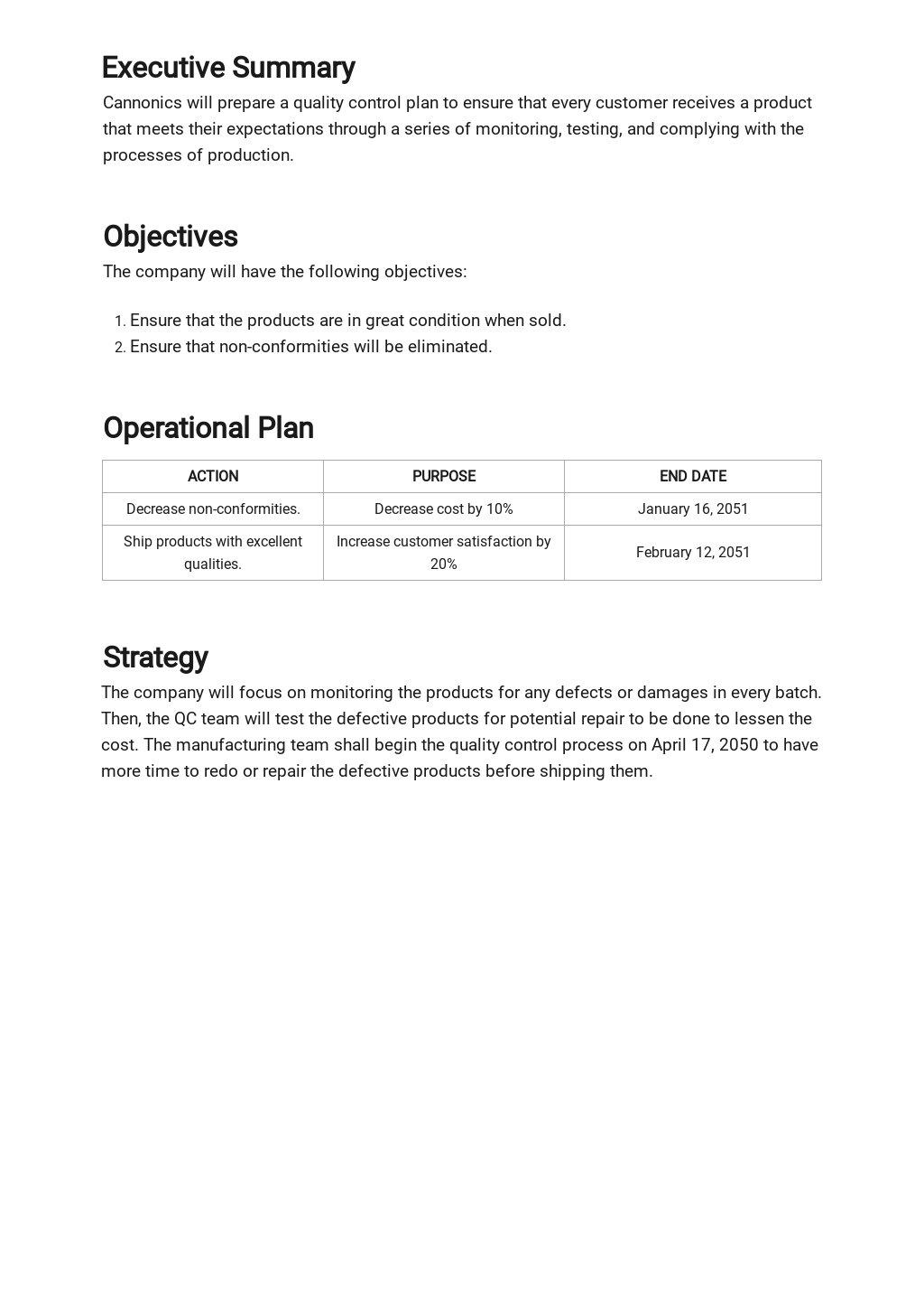 Free Quality Control Plan Template 1.jpe