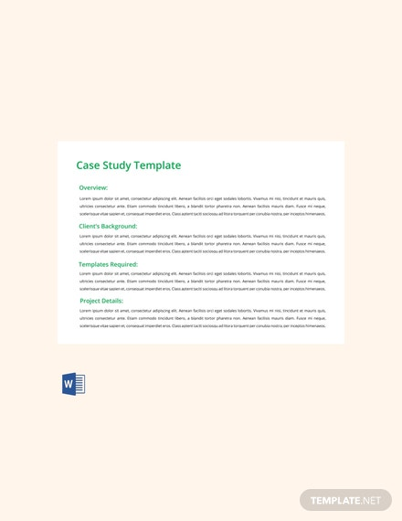 Free Case Study Template