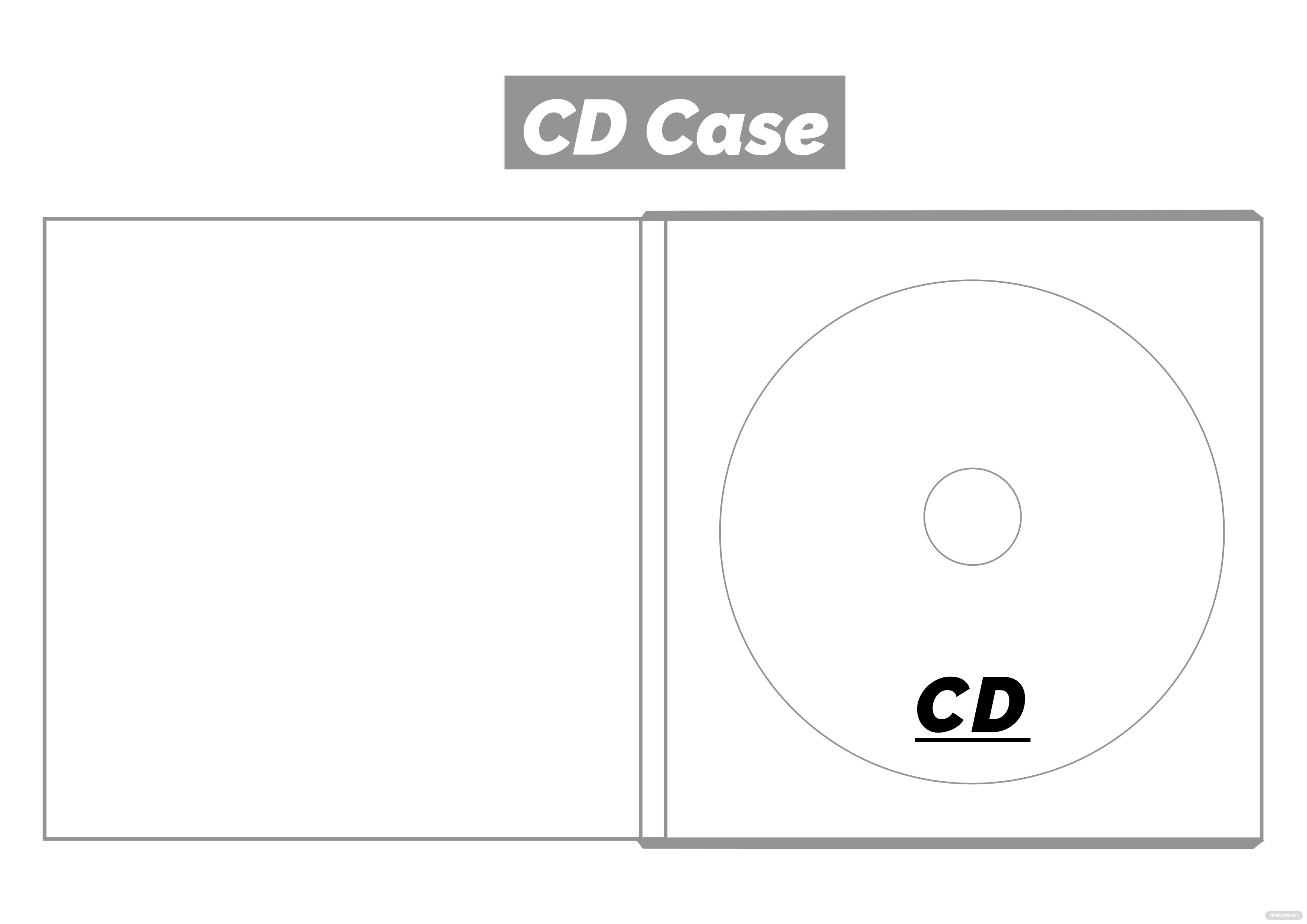 Fantastic Cd Case Template Pattern - Resume Template ...