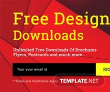 Free Downloads Pop-up Template