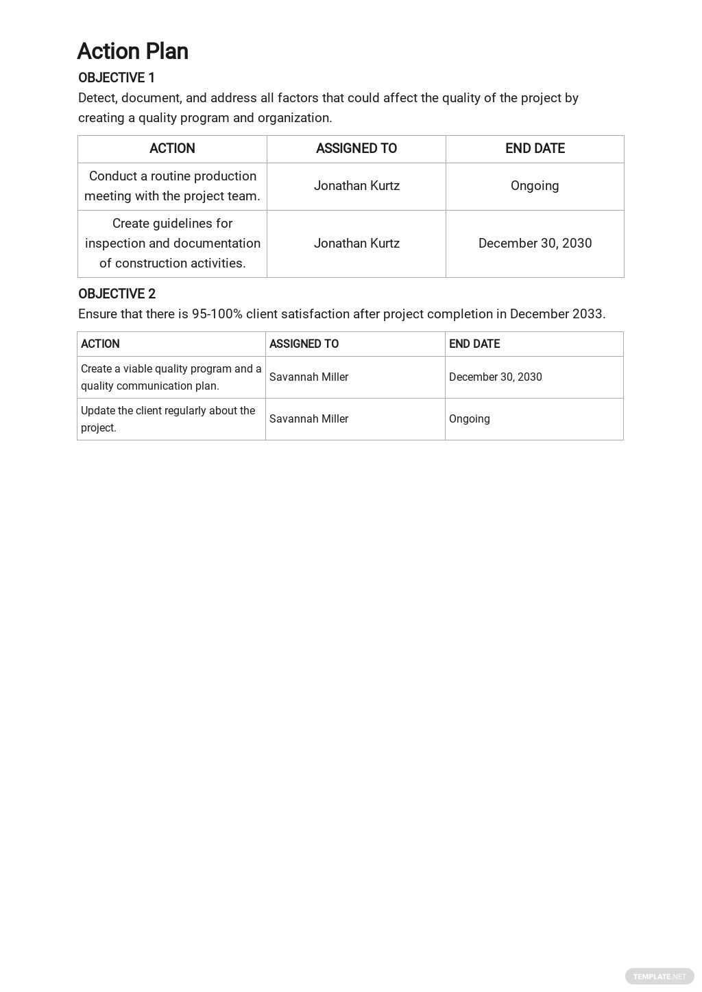 Free Construction Quality Control Plan Template 3.jpe