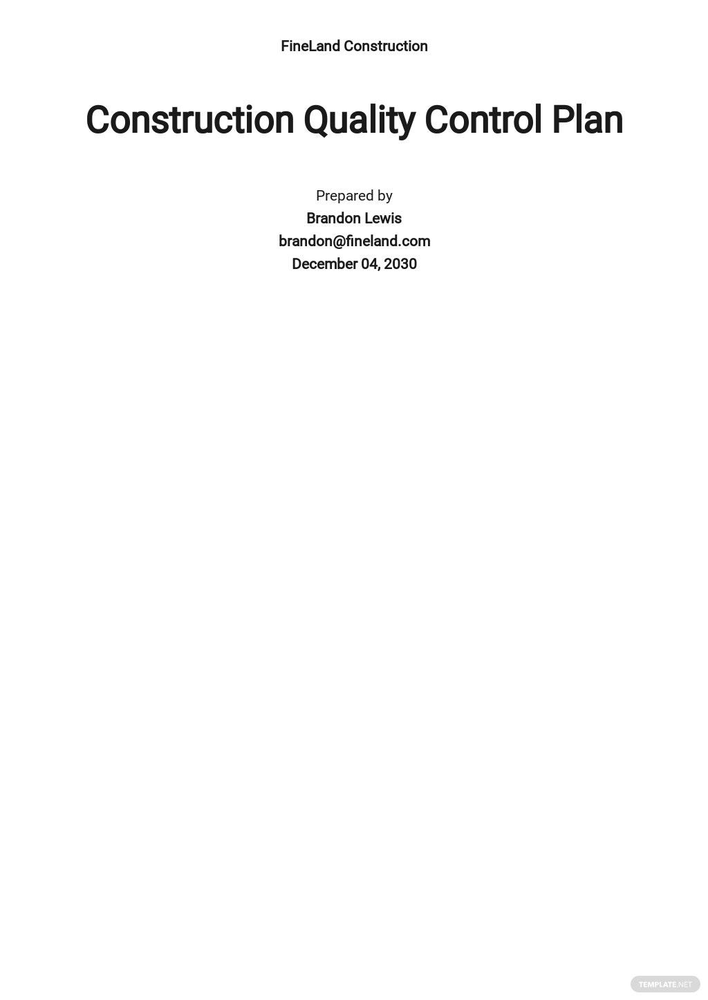 Free Construction Quality Control Plan Template.jpe