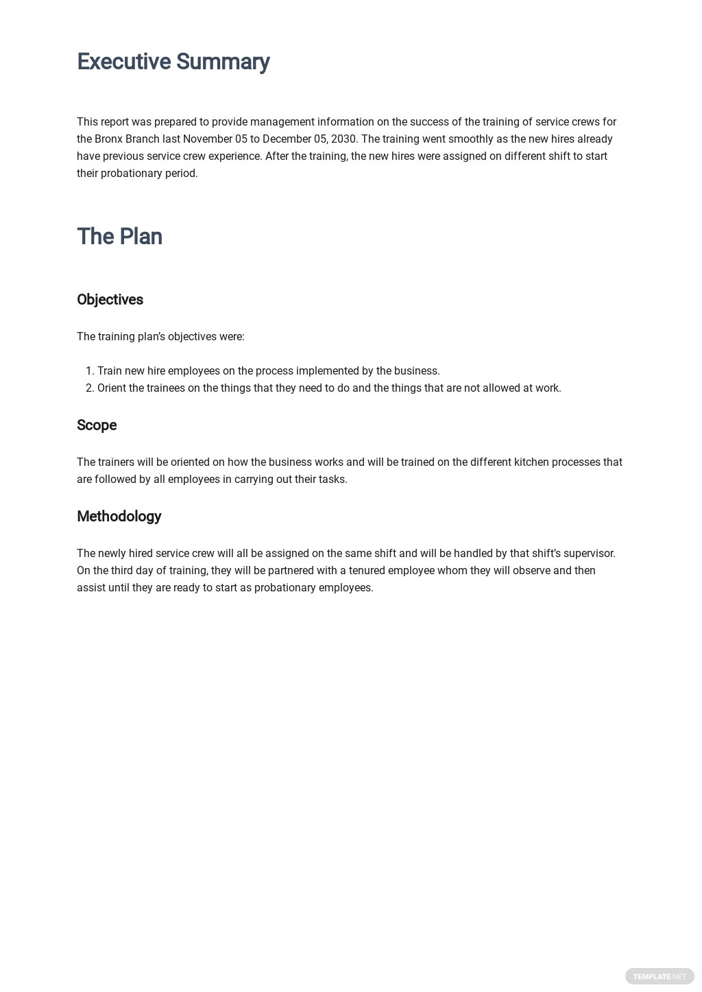 Free Employee Training Report Template 1.jpe