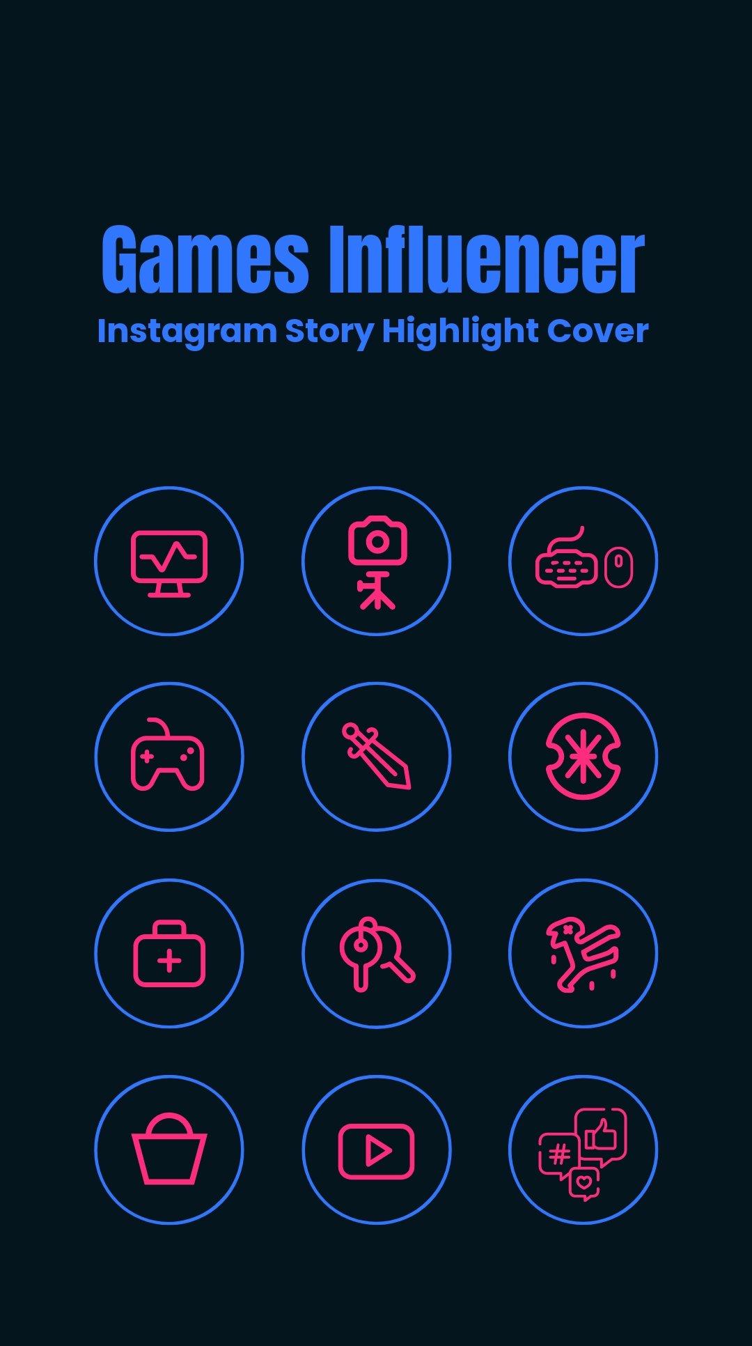 Games Influencer Instagram Story Highlight Cover.jpe