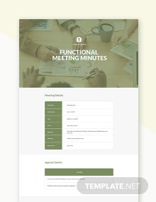 Free Functional Meeting Minutes Template