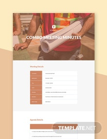 Free Combo Meeting Minutes Template