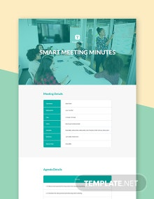 Free Smart Meeting Minutes Template