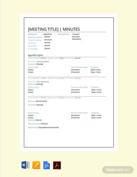 free smart meeting minutes template pdf word apple. Black Bedroom Furniture Sets. Home Design Ideas